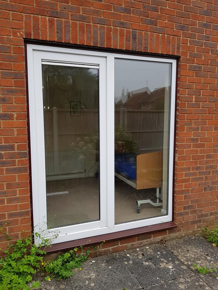 before patio doors