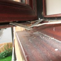 window hinge damage 2