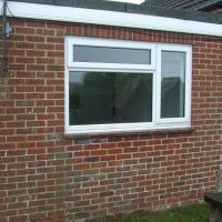 window to door conversion before
